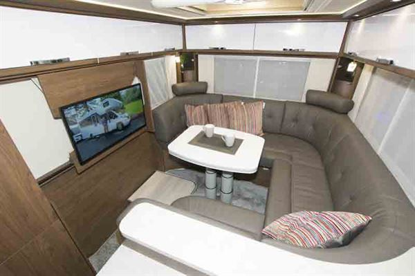 The Frankia I 840 Plus Titan's lounge is the star of the show © Warners Group Publications