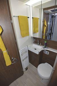 The washroom in the Frankia Platin I8400 Plus motorhome