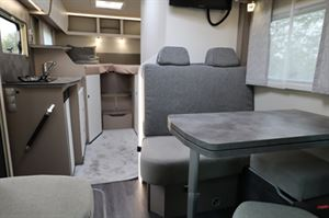 The interior on the new M-Line Neo is is lighter than traditional Frankia schemes