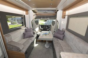 This Bailey Adamo has a front lounge layout