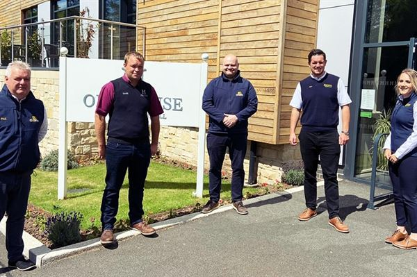 Team members at Ord House Country Park in Berwick-upon-Tweed are back with a windfall for charity