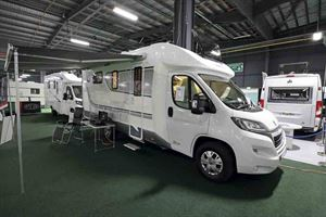 A front-on image of the motorhome©Warners Group Publications, 2019