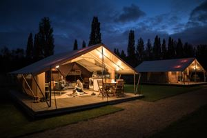 Glamping at night