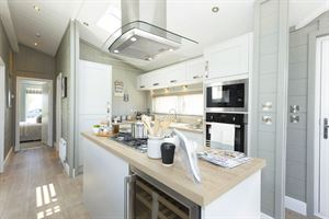 The kitchen in the Prestige Homeseeker Glass House - picture courtesy of Whitehill Country Park