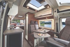 Globecar Summit 640 Motorhome interior with Single Bed Layout