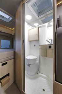 The washroom in the Globecar Summit