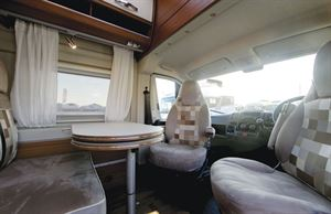 The lounge and dining area in the Globecar Campscout Revolution campervan