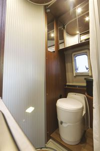 The washroom in the Globecar Campscout Revolution campervan