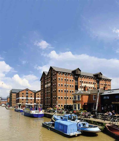 Llanthony Warehouse at Gloucester Docks - picture courtesy of Felicity Martin
