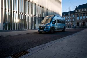 The new HymerCar Free 600 Blue Evolution special edition campervan