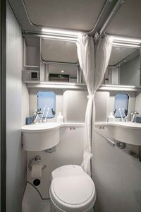 The washroom in the new HymerCar Free 600 Blue Evolution special edition campervan