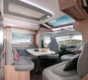 The front lounge in Hymer's latest T-CL 574 Ambition