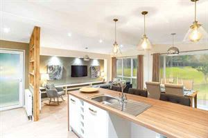 The well-equipped kitchen in the Harrington holiday home by Tingdene