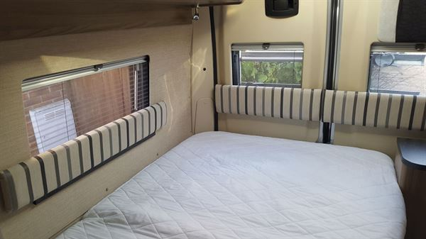 Fixing a headboard to a campervan - the final result