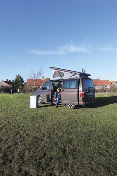 Getting ready to cook al fresco with the HemBil Urban campervan