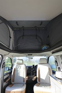 The cab seats in the HemBil Urban campervan