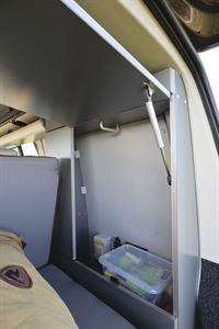 Storage in the HemBil Urban campervan