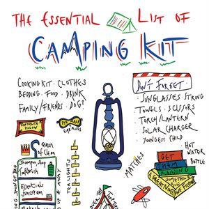 Henrietta's Kitchen Camping Kit Tea Towel