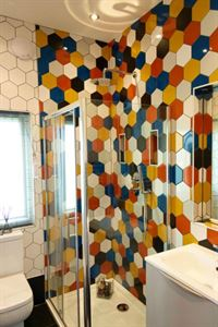 The decorative shower room