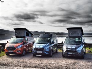 The three Auto Campers models you can hire in Scotland from Highland Auto Campers
