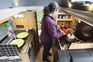 The Hillside Cromford has a well-equipped kitchen area