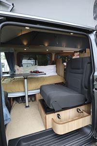 A peek at the interior of the Hillside Cromford campervan