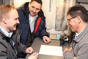 Motorhome designers Stefan Fricke and Matthias Schatzle with Fidelius Knaus of Truma