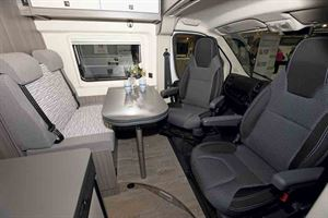 The Vantana's cab - both chairs swivel