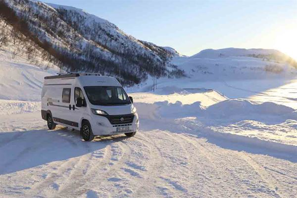 The Hobby Vantana range is built to handle wintry conditions - picture courtesy of Hobby