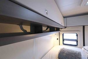 Useful storage and shelving in the bedroom area - picture courtesy of Hobby