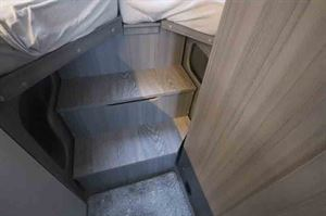Steps provide easy access to the beds - picture courtesy of Hobby