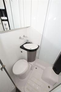 The washroom in the Hobby Optima OnTour T65 HKM