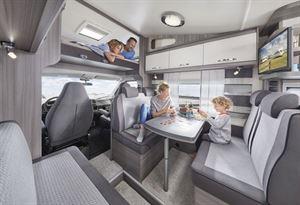 Hobby's Optima OnTour overcab, the A65 KM, has a family-sized lounge