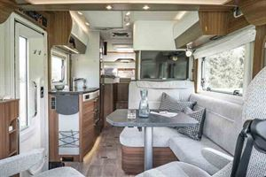 Full view of the interior, from cab to rear bedroom - picture courtesy of Erwin Hymer