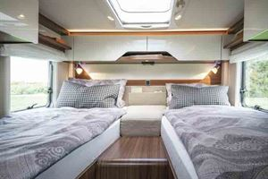 The rear twin beds - picture courtesy of Erwin Hymer