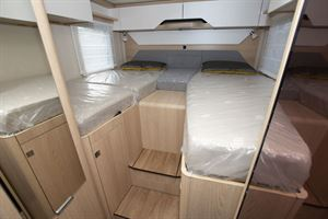 Twin beds in the Hymer B-MC I 600 WhiteLine