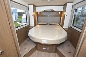 The bedroom in the Hymer B-ML I 890
