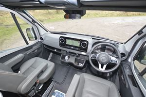 The cab in the Hymer DuoCar S motorhome