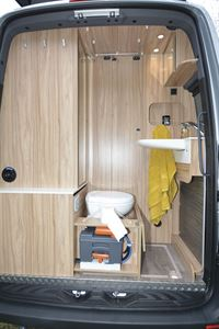 The garage in the Hymer DuoCar S motorhome