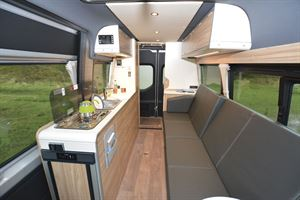 Interior seating in the Hymer DuoCar S motorhome