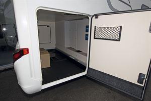 The garage in the Hymer Exsis-i 580 motorhome
