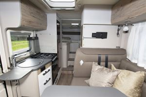 The interior of the Hymer Exsis-i 580 motorhome