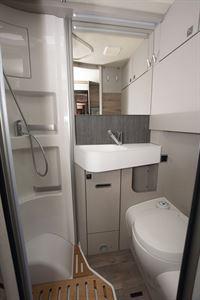 The washroom in the Hymer Exsis-i 580 motorhome