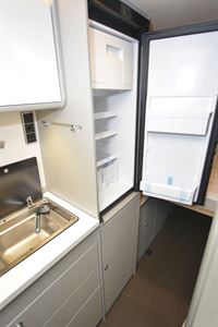View of the fridge in the Hymer Free 600 Campus