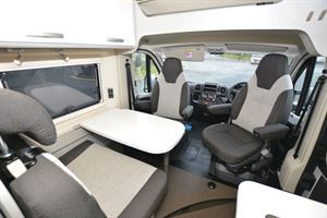 The lounge area in the Hymer Free 600 Campus