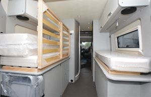 Rear beds in the Hymer Free 600 Campus