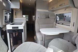 Inside the Hymer Free campervan