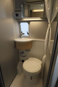 The washroom in the Hymer Free campervan