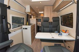 The Hymer Grand Canyon, from front through to rear