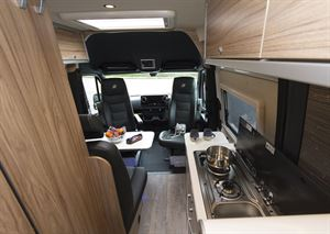 A view of the interior of the Hymer Grand Canyon S